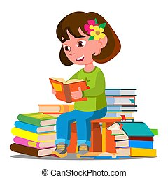 sors, ülés, elszigetelt, ábra, előjegyez, könyvtár, vector., gyermek