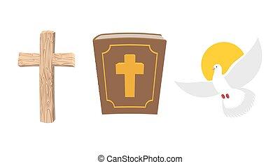 soul., jelkép, biblia, öreg, jámbor, fából való, set., ősi, keresztény, book., madár, cross., fehér galamb, emberi, repülés, isteni, kereszt