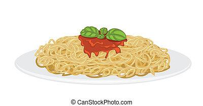 spagetti, finom