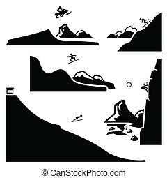 sport, állhatatos, 4, extrém, pictogram