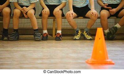 sport, bírói szék, gyerekek, előszoba, ülés