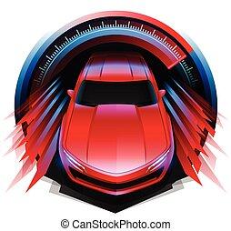 sport, drivin, autó, tervezés, fogalom