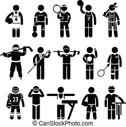 sport felöltöztet, sportruházat, ruházat