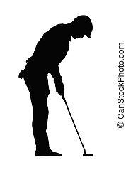 sport, feltétel, elszigeteltség, ember, árnykép, játékos