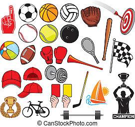 sport, nagy, gyűjtés