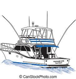 sport, part felől, halászhajó