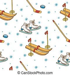 sport, pattern., tél, seamless