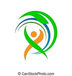 sport, tervezés, állóképesség, egészséges, emberek, vektor, ábra, szokás, jel, sablon