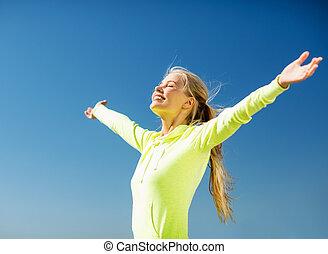 sport woman, szabadban