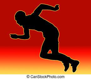sprinter, hím, hát, piros