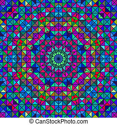 stained-glass, szín, elvont, pattern., ablak, retro, geometriai