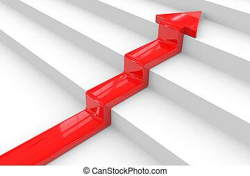 stair., fogalom, success., nyíl, piros