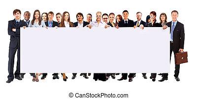 standin, boldog, csoport, young emberek