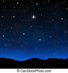 starry ég, éjszaka