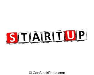 startup, fehér, szó, háttér, 3
