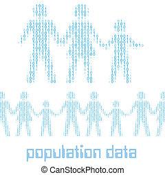 statisztika, család, emberek, digitális, adatok, lakosság