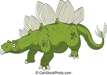 stegosaurus, karikatúra, ábra