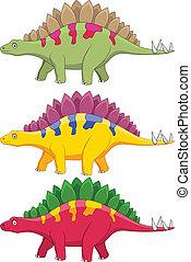 stegosaurus, karikatúra