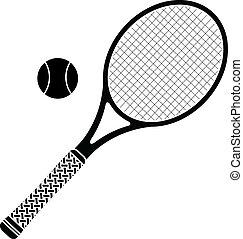 stencil, tenisz, racket.