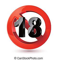 sticker., felnőttek, cégtábla., xxx, alkoholmérési tilalom, aláír, befogadóképesség, egyetlen, tizennyolc, határ, alatt, icon., életkor