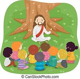 stickman, biblia, jézus, gyerekek, storytelling