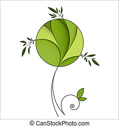 stilizált, zöld fa