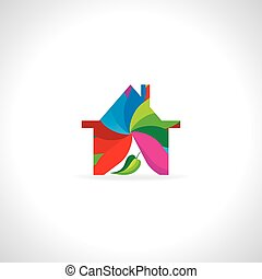 stock-vector-colorful-abstract-house-icon-wtih-leaf-01