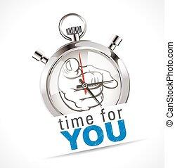 stopperóra, ön, -, idő