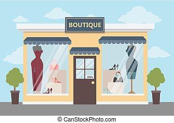 store., butik, öltözet