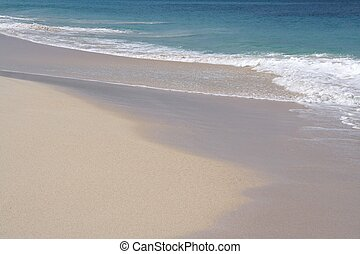 strand, fehér