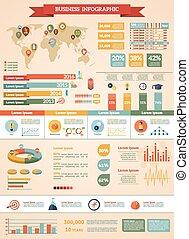 stratégia, állhatatos, ügy, infographic