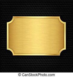 struktúra, arany, vektor, illustra, tányér