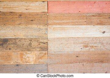 struktúra, háttér, erdő, fal, barna, grungy, palánk