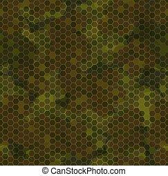 struktúra, motívum, camouflage., seamless, ősz erdő, háttér