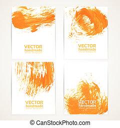 struktúra, narancs, handdrawing, transzparens, elvont, 1, ecset, állhatatos