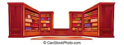 stuff., athéné temploma, öreg, belső, fényűzés, könyvtár
