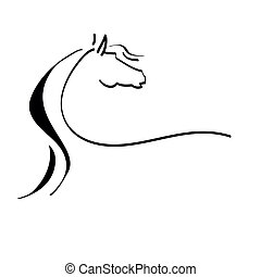 stylized ló, rajz