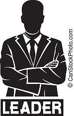 (successful, businessman), vezető