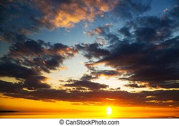 sunset., tenger