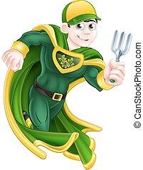 super hős, kertész