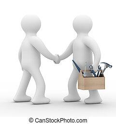 support., service., műszaki, kép, elszigetelt, egyenes, 3