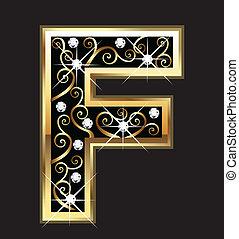 swirly, dísztárgyak, arany, levél f