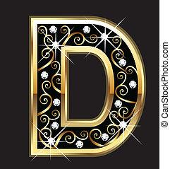 swirly, levél, arany, dísztárgyak, átmérő