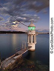 sydney, mutat, cremorne, világítótorony, kikötő
