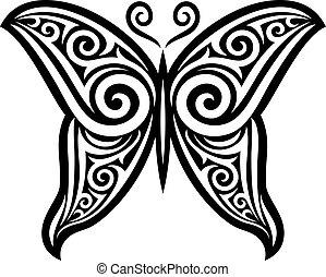 (symbol), vektor, lepke, tetovál, tervezés