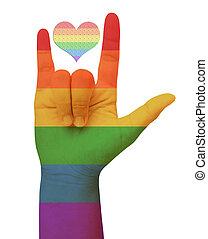 symbolizing, szabadság, concept., love., buzi
