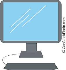 számítógép, ábra, fehér, vektor, háttér.