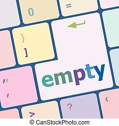 számítógép, gombol, ábra, számítógép, vektor, kulcs, billentyűzet, üres