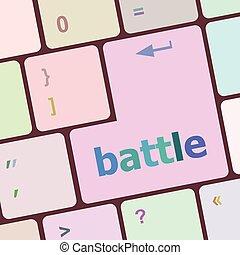 számítógép, gombol, ábra, számítógép, vektor, kulcs, billentyűzet, harc
