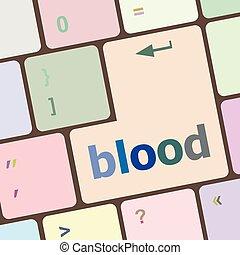 számítógép, gombol, ábra, számítógép, vektor, vér, kulcs, billentyűzet